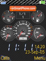 Speedometer tema screenshot