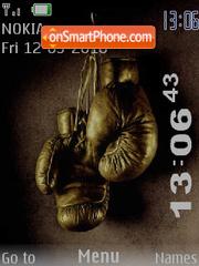 Boxing SWF Clock theme screenshot