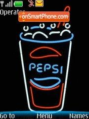 Pepsi Neon theme screenshot