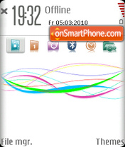 Vodafone Shiny es el tema de pantalla