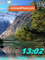 Nature clock swf theme screenshot