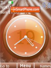 Скриншот темы Analog clock