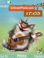 Merry cat clock animated es el tema de pantalla