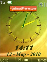Yellow green analog tema screenshot