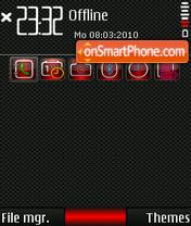Red Carbon theme screenshot