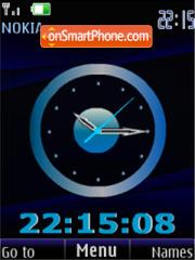 Скриншот темы Clock blue