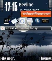 Capture d'écran Nightly Serenity 73 thème