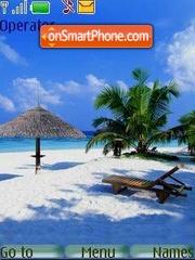 The sun, beach... theme screenshot
