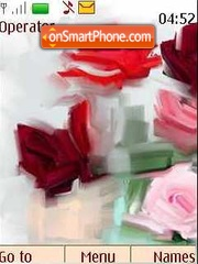 Abstract roses theme screenshot