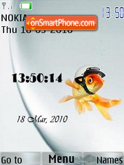 Gold Fish Clock theme screenshot