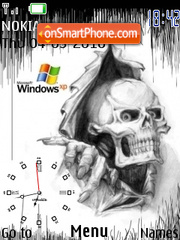 Windows Xp Skull theme screenshot
