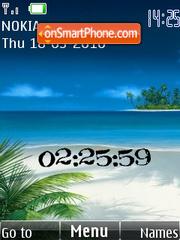 Beach Paradise theme screenshot