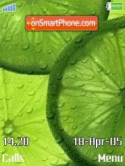 Green fruit tema screenshot