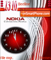 Nokia Clock 01 theme screenshot