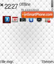 Silky White theme screenshot