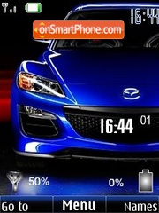 Mazda (battery & clock) theme screenshot