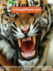 Capture d'écran Tiger Roaring thème