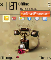 Retro telephone (Q1) tema screenshot