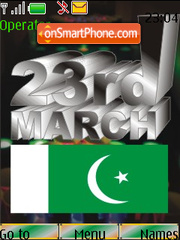 23 March Pakistan theme screenshot