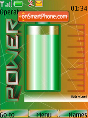 Capture d'écran Green SWF Battery Updater thème