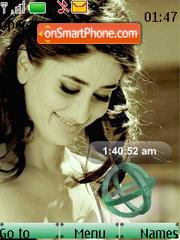 Capture d'écran Kareena Kapoor Rotating Circles SWF Clock thème