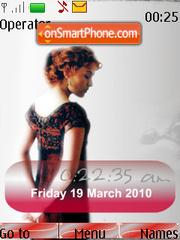 Capture d'écran Kate Winslet SWF Clock thème