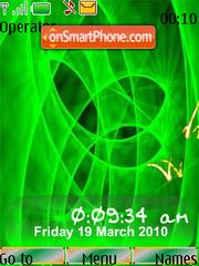 Capture d'écran Neon Art SWF Clock thème
