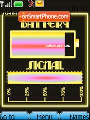 Pink Battery & Signal Updater SWF theme screenshot