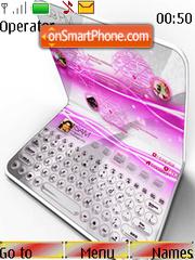 Pink Laptop theme screenshot