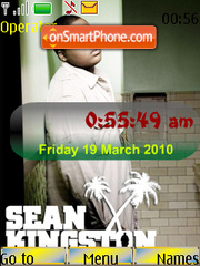 Capture d'écran Sean Kingston SWF Clock thème