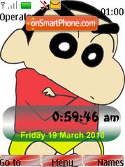Shin Chan SWF Clock theme screenshot