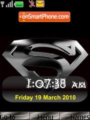 Capture d'écran Super Man SWF Clock thème