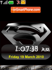 Super Man SWF Clock tema screenshot