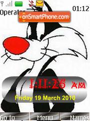 Sylvester SWF Clock theme screenshot