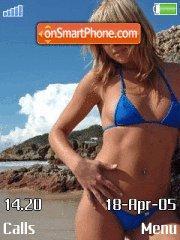 Blue Bikini es el tema de pantalla