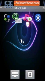 Neon Eye 01 theme screenshot
