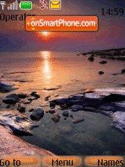Ocean Sunset tema screenshot