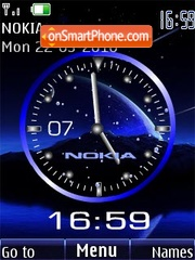 Analog clock space animated theme screenshot