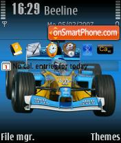 Renault Team theme screenshot