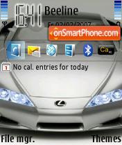 Скриншот темы Lexus LFA