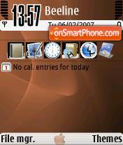 Скриншот темы BrownOsX