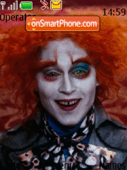 Alice in Wonderland theme screenshot