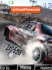 Drift Clock theme screenshot