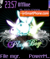 Playboy Crystal tema screenshot