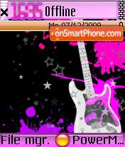 Guitar In Metalic es el tema de pantalla