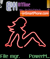 Neon Girl theme screenshot