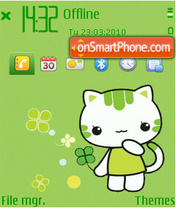 Green kitty theme screenshot