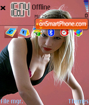 Girl-Blonde theme screenshot