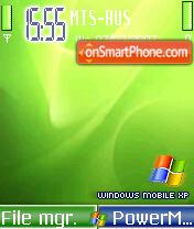 Windows Mobile XP Green es el tema de pantalla