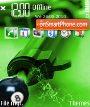 8 ball gun 01 theme screenshot
